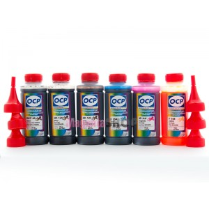 OCP BK 797, C 133, CL 125, Y 122, M 122, ML 125 100гр. 6 штук - чернила (краска) для картриджей Canon PIXMA: CLI-8