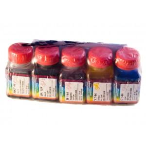 OCP BK 35, BK, M, Y 135, C 712 (SAFE SET) 5 штук по 25 грамм - чернила (краска) для картриджей Canon PIXMA: PGI-450, PGI-550, CLI-451, CLI-551