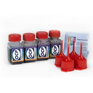 OCP BKP 44, C, M, Y 795 4 штуки по 25 грамм - чернила (краска) для картриджей Canon PIXMA: PG-37, PG-40, PG-50, CL-38, CL-41, CL-51
