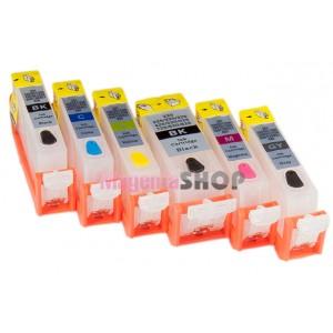 ПЗК MG6140 – перезаправляемые картриджи (с чипами) для Canon PIXMA: MG6140, MG8140, MG6240, MG8240