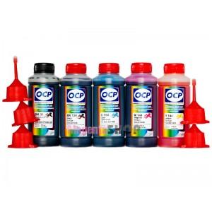 OCP BK 35, BK 124, C 154, M, Y 144 (SAFE SET) 100гр. 5 штук - чернила (краска) для картриджей Canon PIXMA: PGI-425, PGI-520, CLI-426, CLI-521