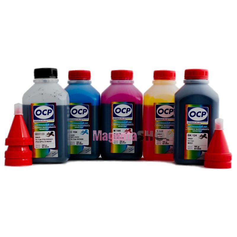OCP BK 35, BK 124, C 154 M, Y 144 (SAFE SET) 5 шт. по 500 грамм - чернила (краска) для картриджей Canon PIXMA: PGI-425, PGI-520, CLI-426, CLI-521