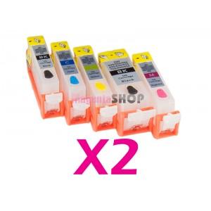 Картриджи ПЗК NON-Stop для Canon iP3600, iP4700, iP4600, MP550, MP540, MP560, MP620, MP630, MP640, MX860, MX870 2 комплекта по 5 штук с чипами