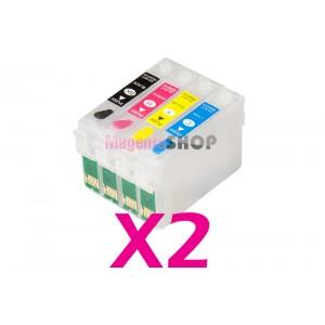 Перезаправляемые картриджи NON-Stop для Epson SX525WD SX535WD SX620FW B42WD BX305F BX625FWD WorkForce WF-7015 WF-7515 WF-7525
