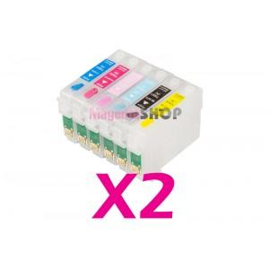 Перезаправляемые картриджи NON-Stop для Epson R270 R290 R390 RX610 RX590 R295 RX615 RX690 1410