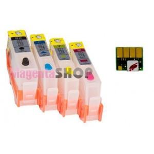 ПЗК HP 655 - перезаправляемые картриджи (с чипами) для HP Deskjet Ink Advantage: 3525, 3520, 4615, 4625, 5525, 6525, 3625
