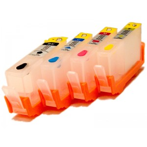 ПЗК HP 178 - перезаправляемые картриджи (с чипами) для HP PhotoSmart: 5510, 3070a, 5515, 6510, B110, B109, B210, B210, B209