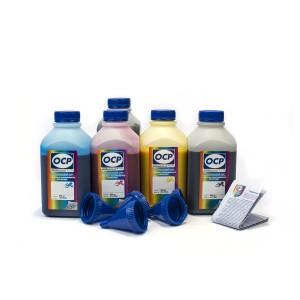 OCP BKP 115, BK 140, C 142, M 140, Y 140 5 шт. по 500 грамм - чернила (краска) для принтеров Epson Expression Home: XP-600, XP-700, XP-605, XP-800