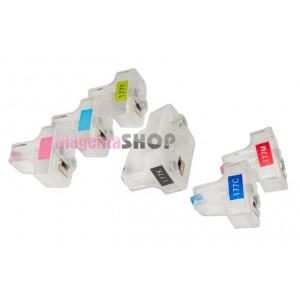 ПЗК HP 177 - перезаправляемые картриджи (без чипов) для HP PhotoSmart: 3313, C5183, C6283, D7263, 3213, C5180, D7163, D7363, 3100, 3210, C6183, D7160, D7168, D7260, 3310, C8183, C8250, C8253, D7180