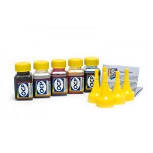 OCP BK 35, C, M, Y 143 (SAFE SET) 4 штуки по 25 грамм - чернила (краска) для картриджей HP: 178, 920, 901, 121