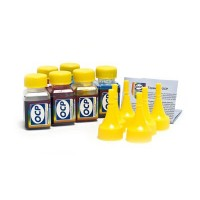 OCP BK 90, C, M, Y 93, ML, CL 94 6 штук по 25 грамм - чернила (краска) для картриджей HP: 177