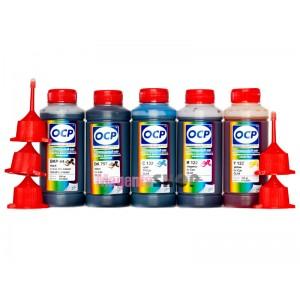 OCP BKP 44, BK 797, C 133, M, Y 122 100гр. 5 штук - чернила (краска) для картриджей Canon PIXMA: PGI-5, CLI-8