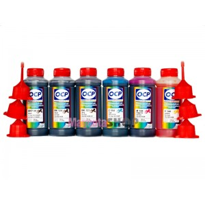OCP BKP 44, BK 123, BK 124, C 154, M, Y 144 100гр. 6 штук - чернила (краска) для принтеров Canon PIXMA: MP980, MP990, MG6140, MG6240, MG8140, MG8240