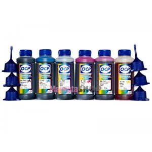 Чернила (краска) светостойкие OCP для принтеров Epson: Stylus Photo - 100 гр. 6 штук.