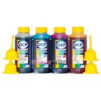 OCP BKP 249, C 760, M 758, Y 752 100гр. 4 штуки - чернила (краска) для картриджей HP: 27, 56, 140, 301, 28, 57, 141, 63