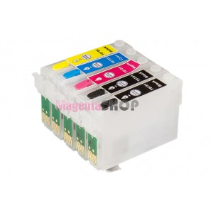 ПЗК C110 – перезаправляемые картриджи для Epson Stylus: C110, T30