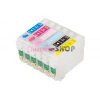 ПЗК T50 – перезаправляемые картриджи для Epson Stylus Photo: T50, TX650, T59, TX659, TX700W, TX710W, TX800FW