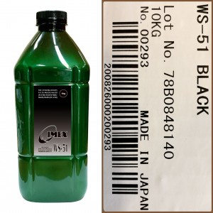 Тонер для kyocera fs color универсал тип ws-51-k (фл,1кг,ч,imex) green atm