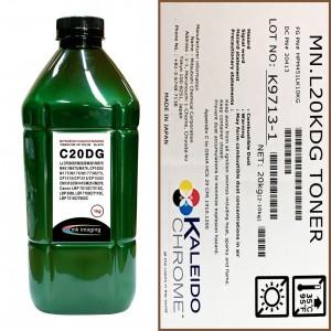 Тонер для hp color универсал тип c20dg (фл,1кг,ч,glossy,chemical mki) green atm